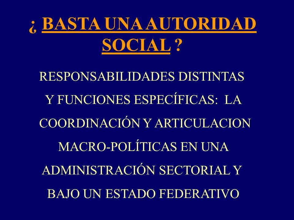 ¿ BASTA UNA AUTORIDAD SOCIAL