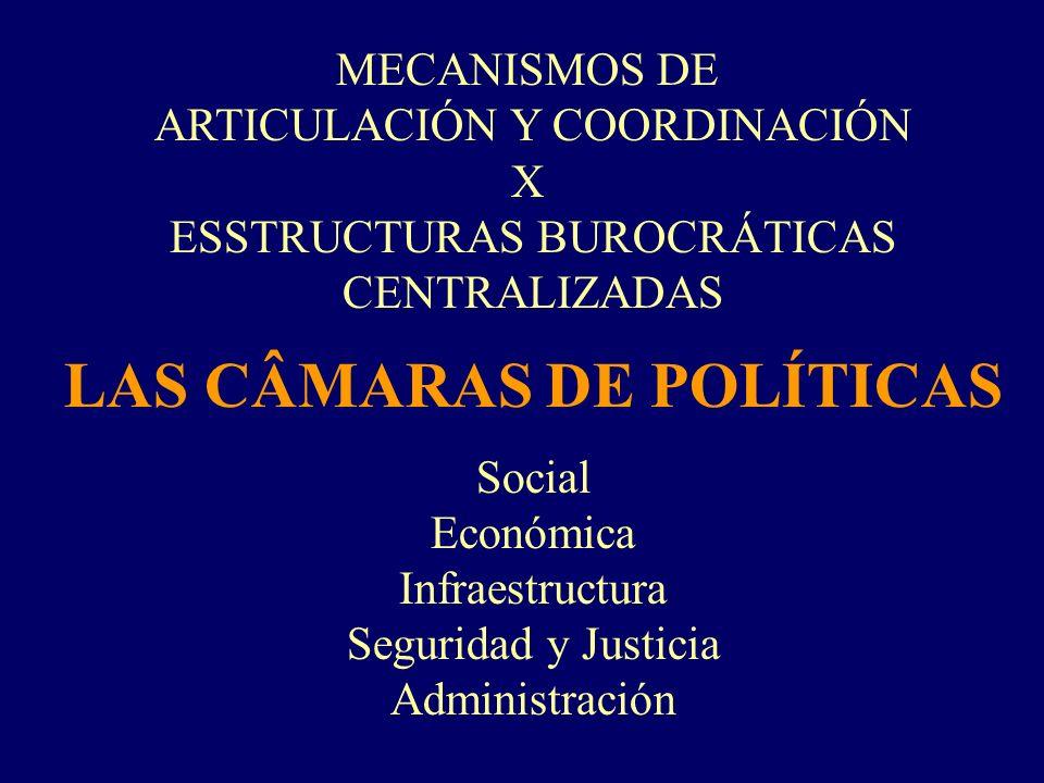 LAS CÂMARAS DE POLÍTICAS