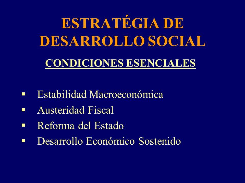 ESTRATÉGIA DE DESARROLLO SOCIAL
