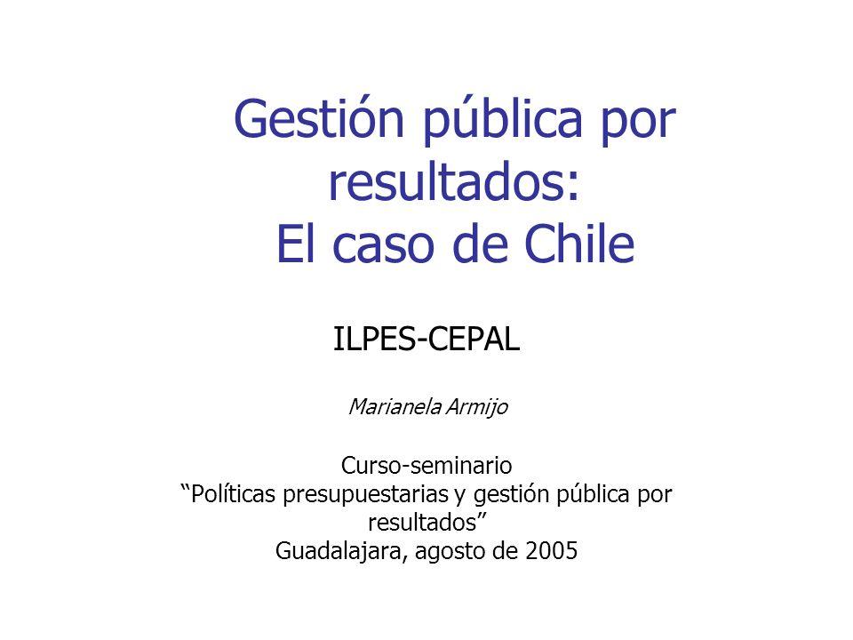 Gestión pública por resultados: El caso de Chile