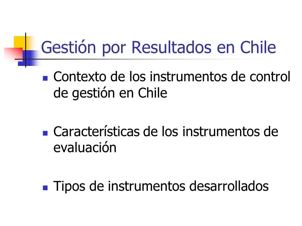 Gestión por Resultados en Chile