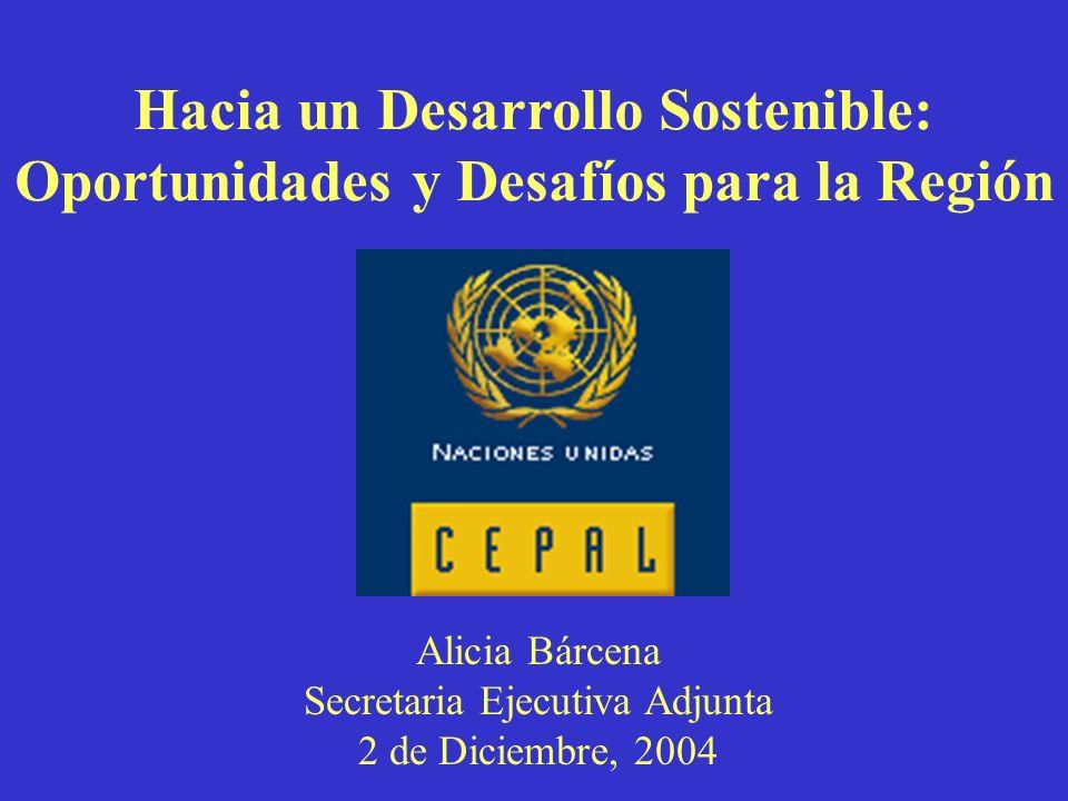 Alicia Bárcena Secretaria Ejecutiva Adjunta 2 de Diciembre, 2004