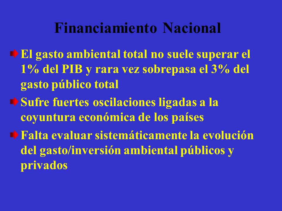 Financiamiento Nacional
