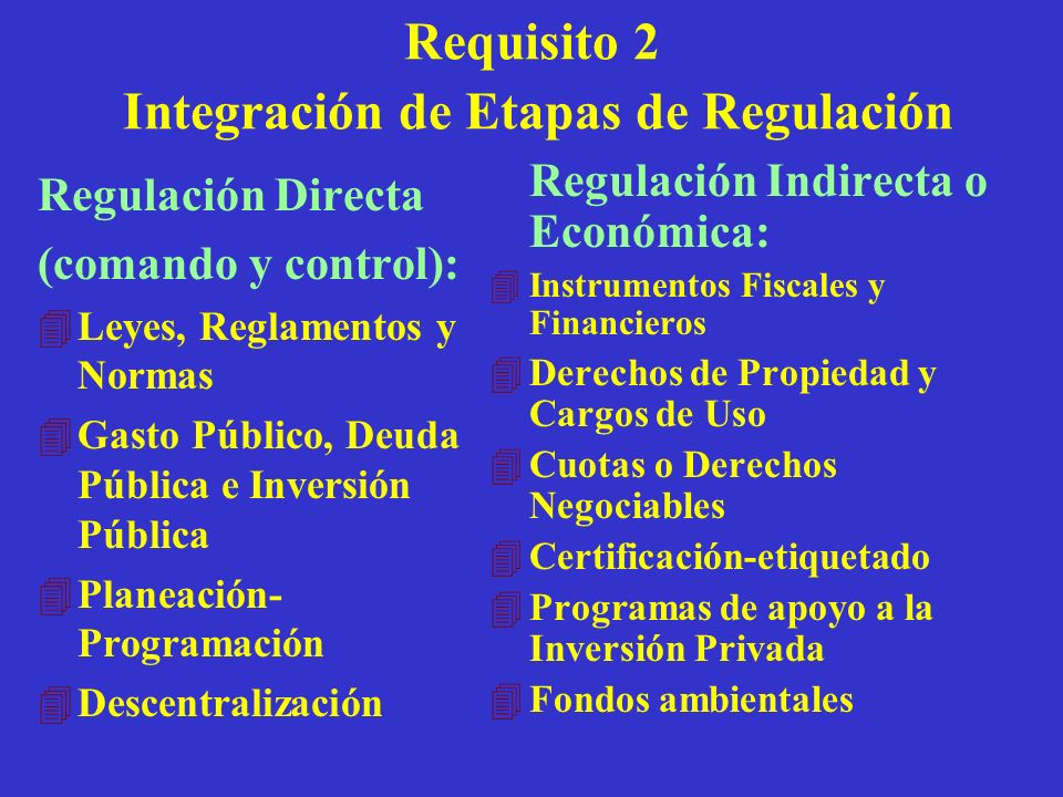 Requisito 2 Integración de Etapas de Regulación
