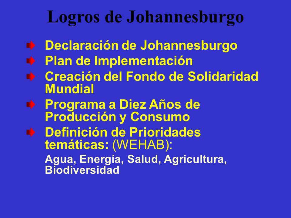 Logros de Johannesburgo