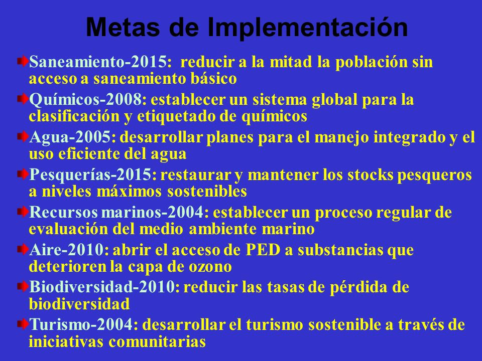 Metas de Implementación