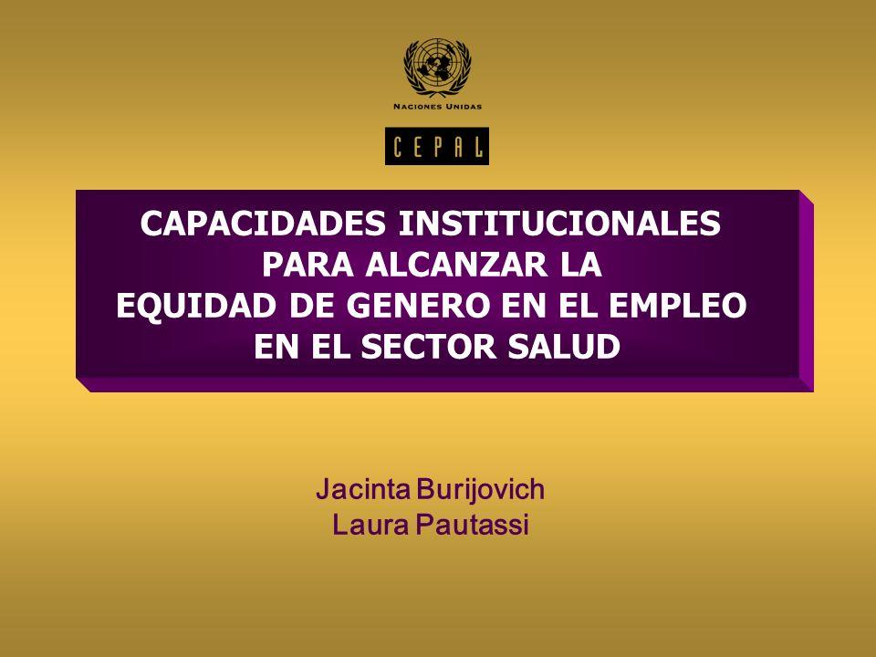 CAPACIDADES INSTITUCIONALES EQUIDAD DE GENERO EN EL EMPLEO