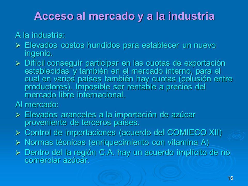 Acceso al mercado y a la industria