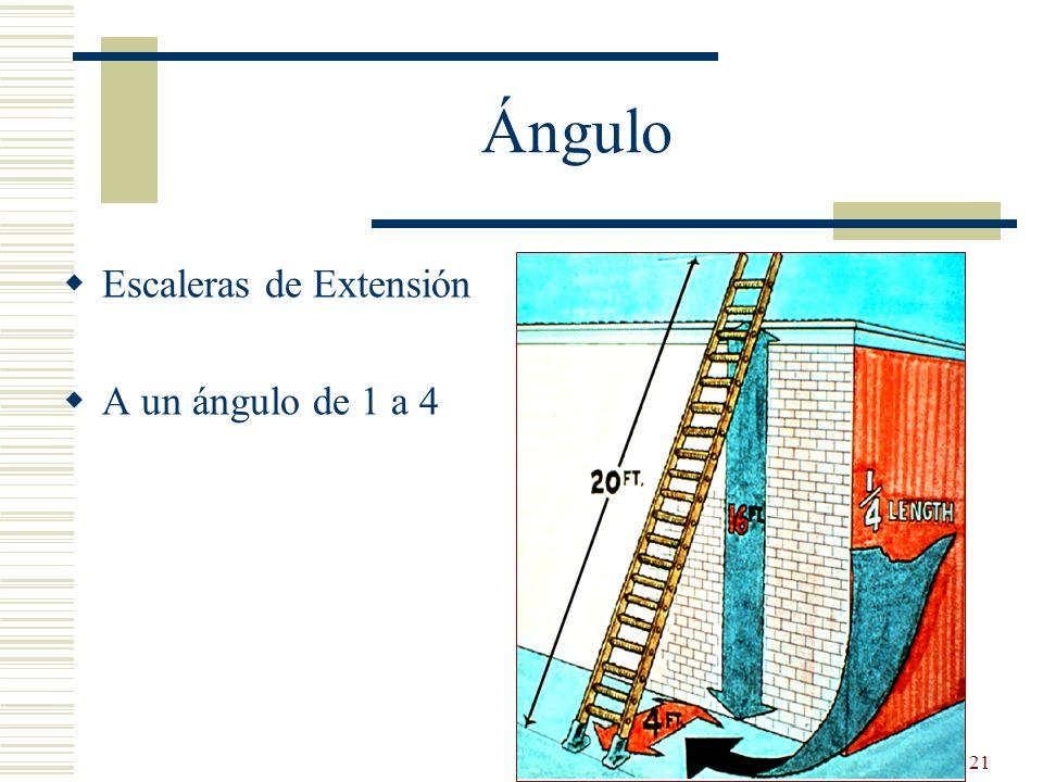 Ángulo Escaleras de Extensión A un ángulo de 1 a 4