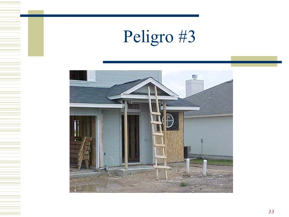 Peligro #3 Job made – not compliant.