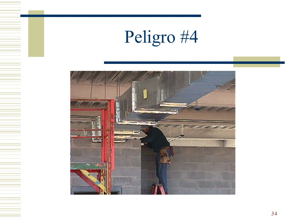Peligro #4 Standing on top 2 steps.