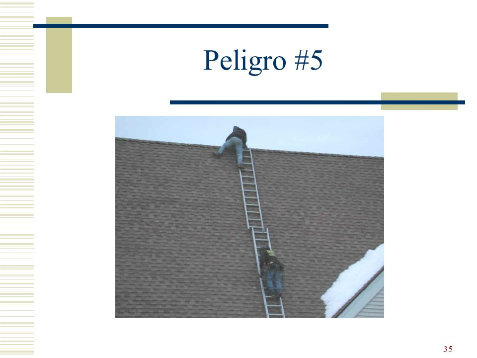 Peligro #5 Two ladders together