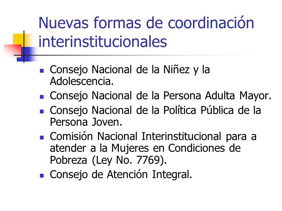 Nuevas formas de coordinación interinstitucionales
