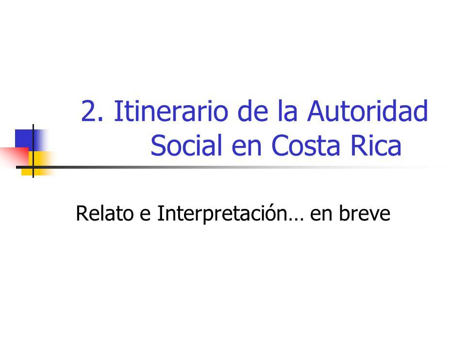 2. Itinerario de la Autoridad Social en Costa Rica