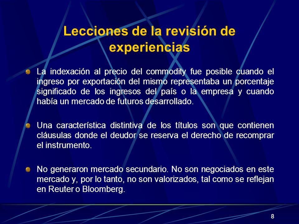 Lecciones de la revisión de experiencias