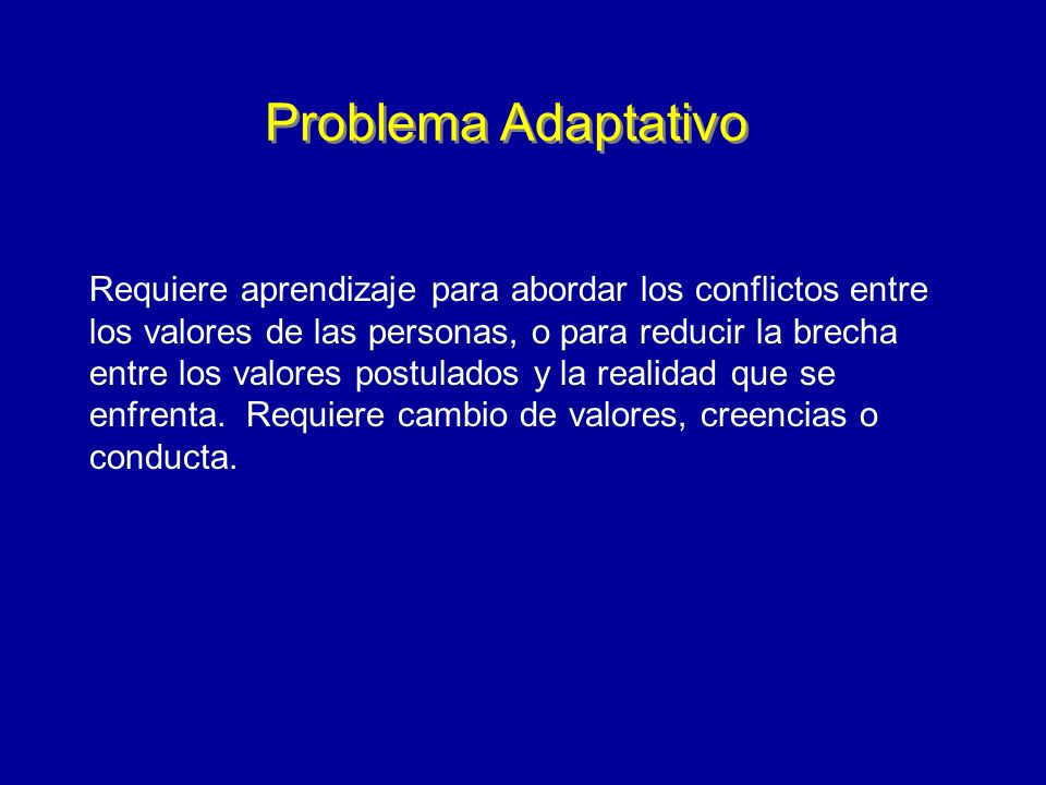 Problema Adaptativo