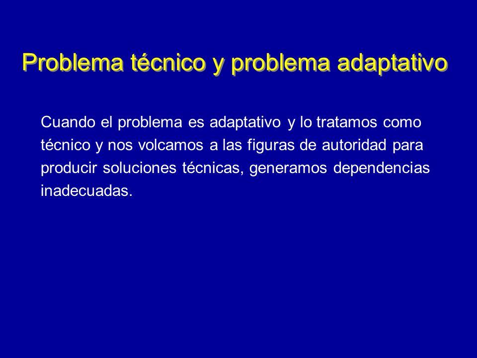 Problema técnico y problema adaptativo