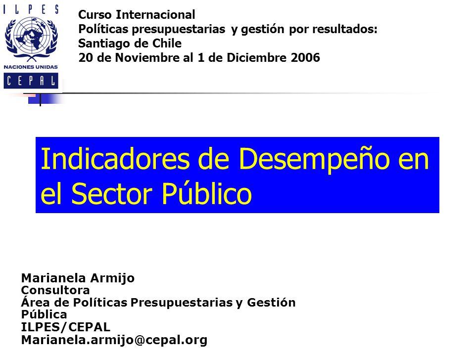 Indicadores de Desempeño en el Sector Público