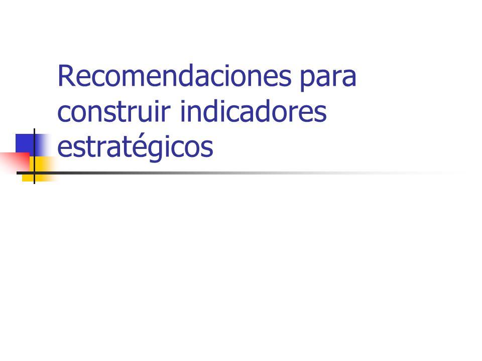 Recomendaciones para construir indicadores estratégicos