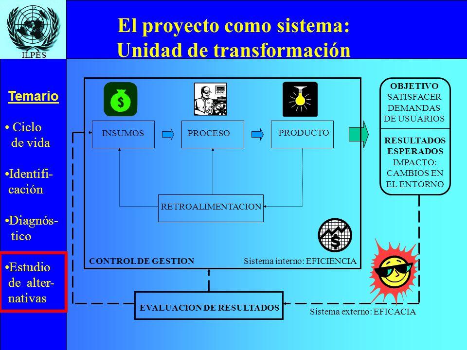 El proyecto como sistema: Unidad de transformación