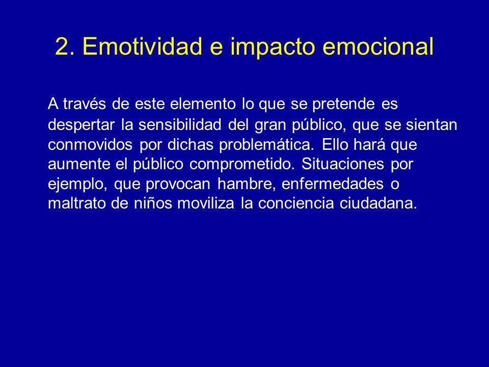 2. Emotividad e impacto emocional