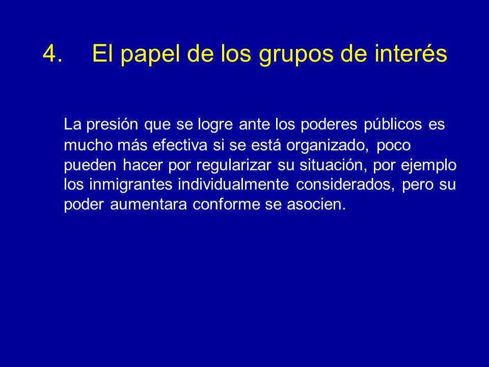 4. El papel de los grupos de interés