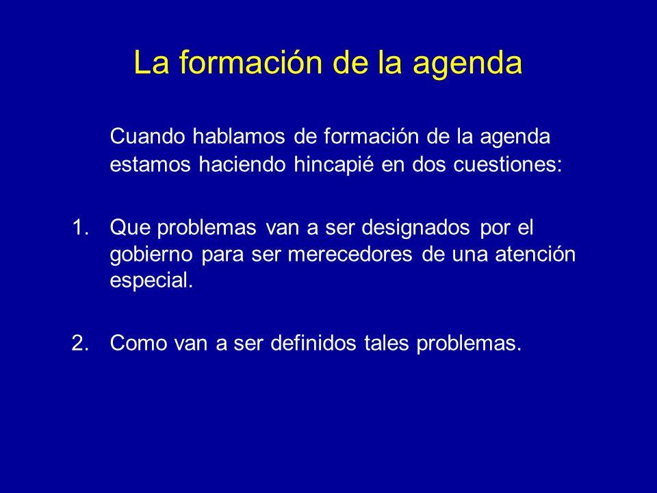 La formación de la agenda