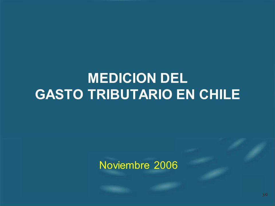 MEDICION DEL GASTO TRIBUTARIO EN CHILE