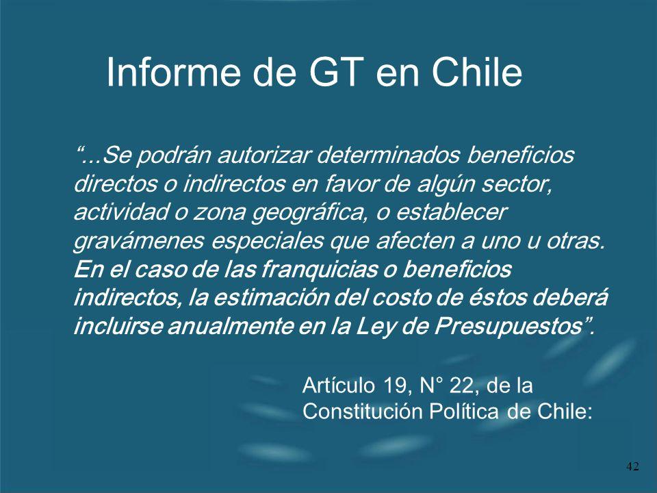 Informe de GT en Chile