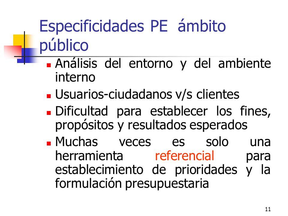 Especificidades PE ámbito público