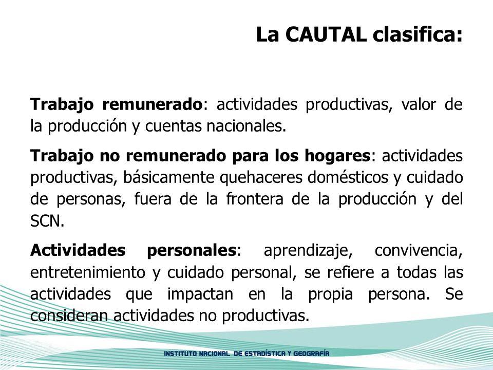 La CAUTAL clasifica: