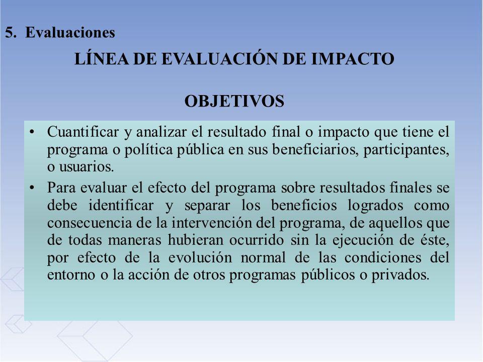 LÍNEA DE EVALUACIÓN DE IMPACTO