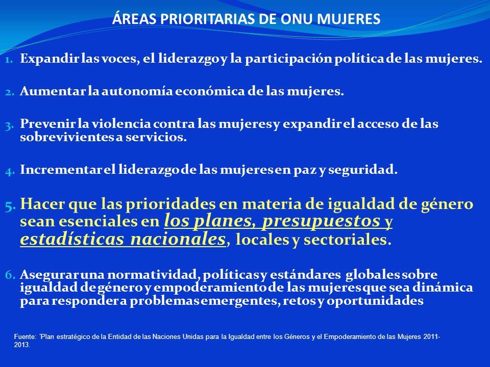 ÁREAS PRIORITARIAS DE ONU MUJERES