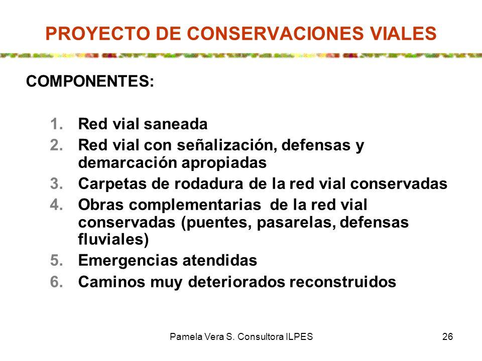 PROYECTO DE CONSERVACIONES VIALES