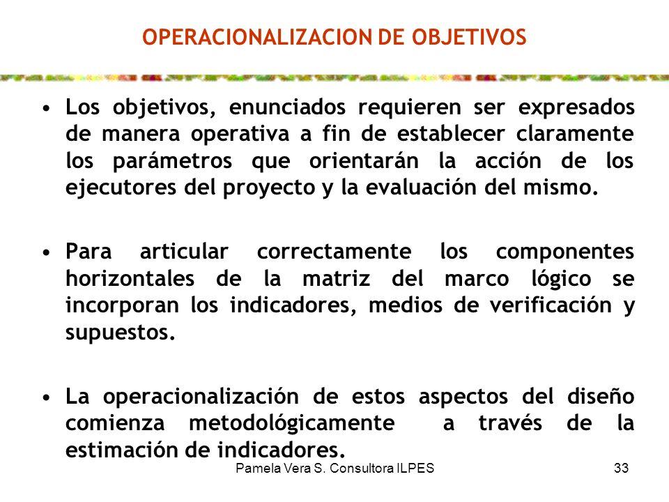 OPERACIONALIZACION DE OBJETIVOS