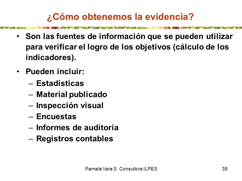¿Cómo obtenemos la evidencia