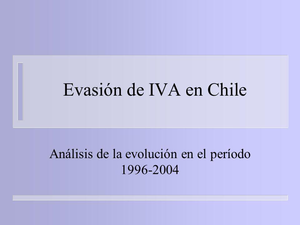 Análisis de la evolución en el período 1996-2004