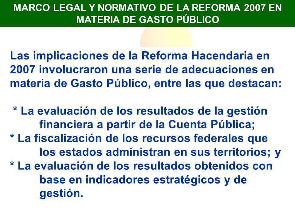 MARCO LEGAL Y NORMATIVO DE LA REFORMA 2007 EN MATERIA DE GASTO PÚBLICO