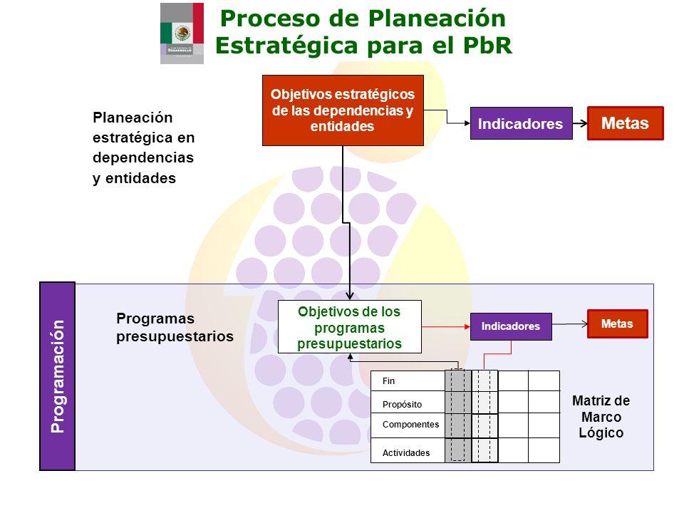 Proceso de Planeación Estratégica para el PbR