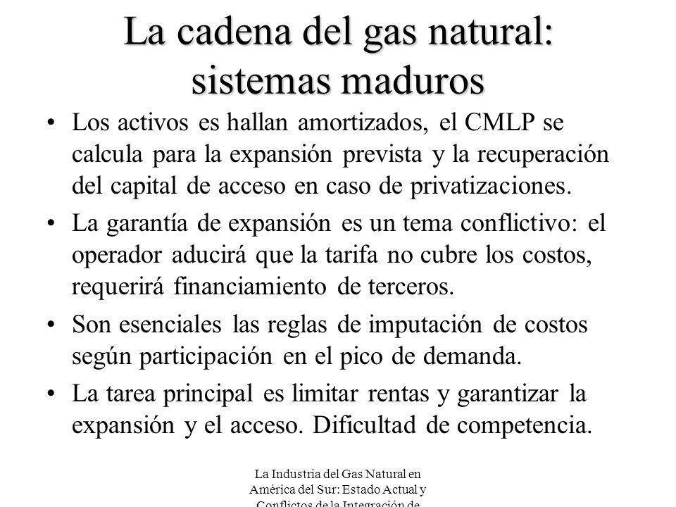 La cadena del gas natural: sistemas maduros