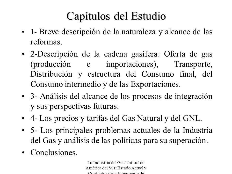 Capítulos del Estudio 1- Breve descripción de la naturaleza y alcance de las reformas.