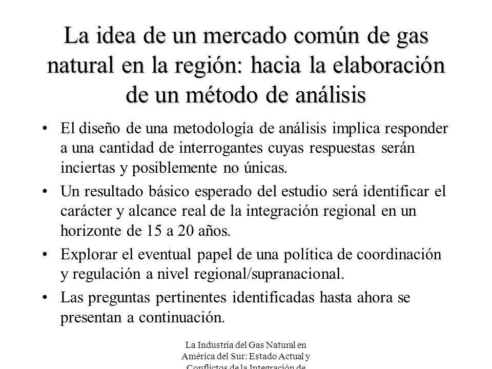 La idea de un mercado común de gas natural en la región: hacia la elaboración de un método de análisis