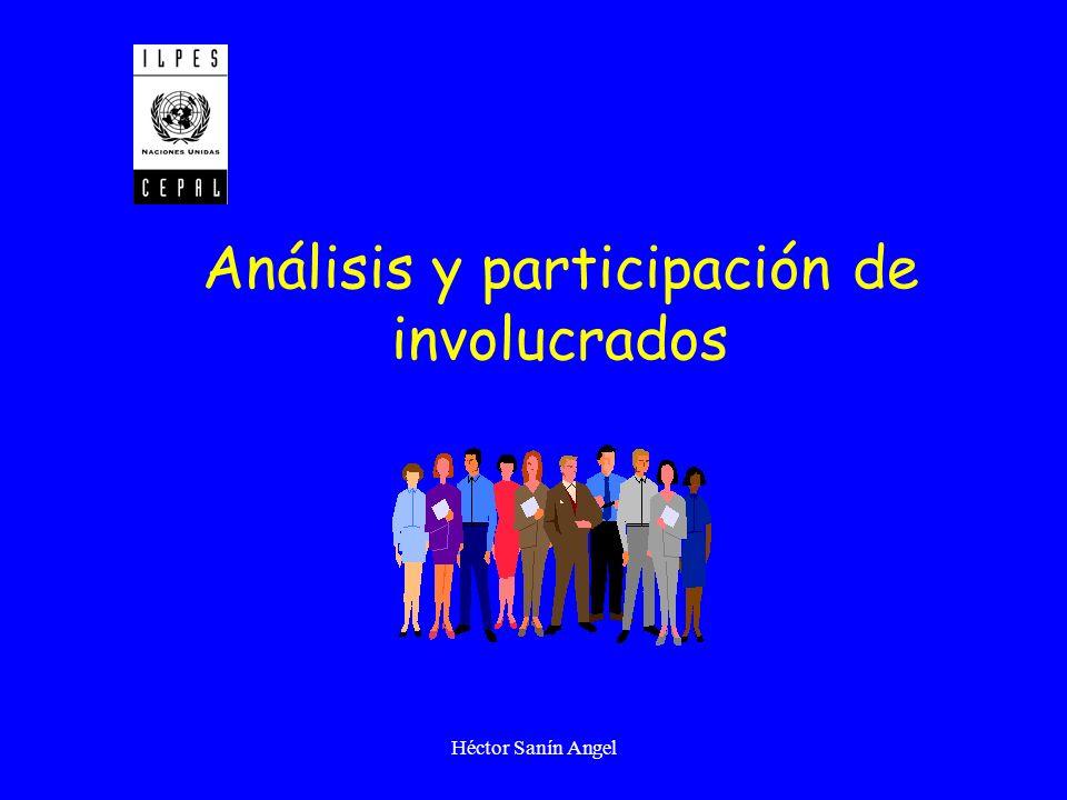 Análisis y participación de involucrados