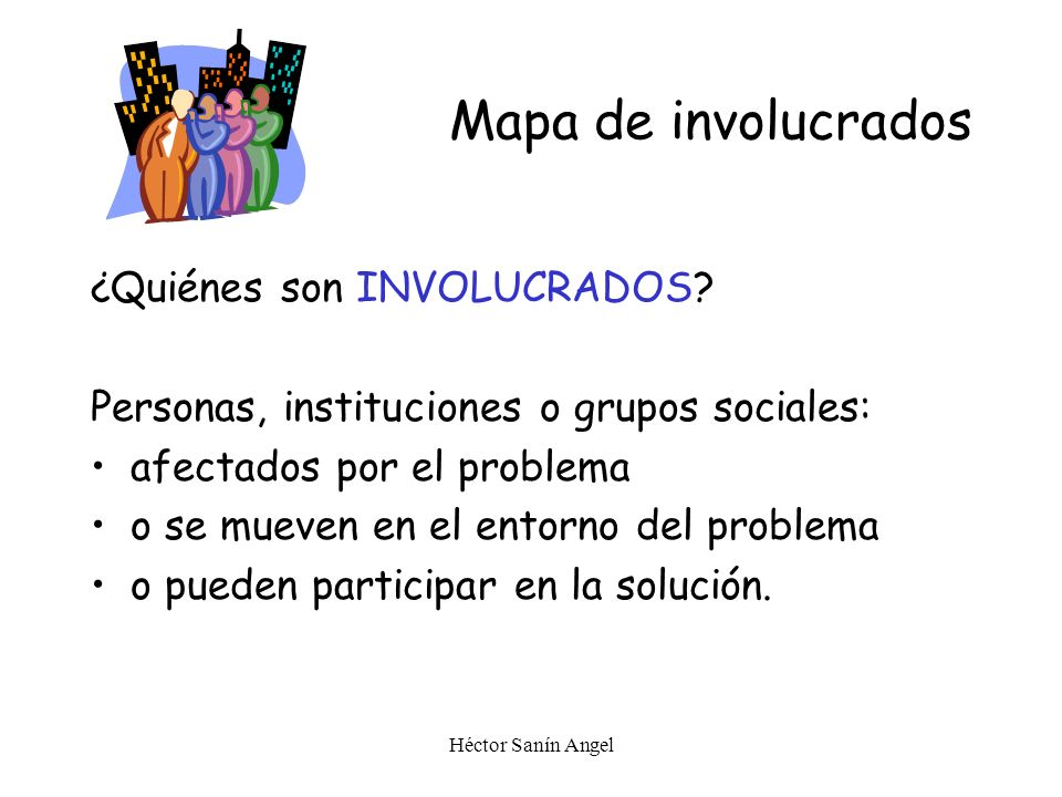 Mapa de involucrados ¿Quiénes son INVOLUCRADOS