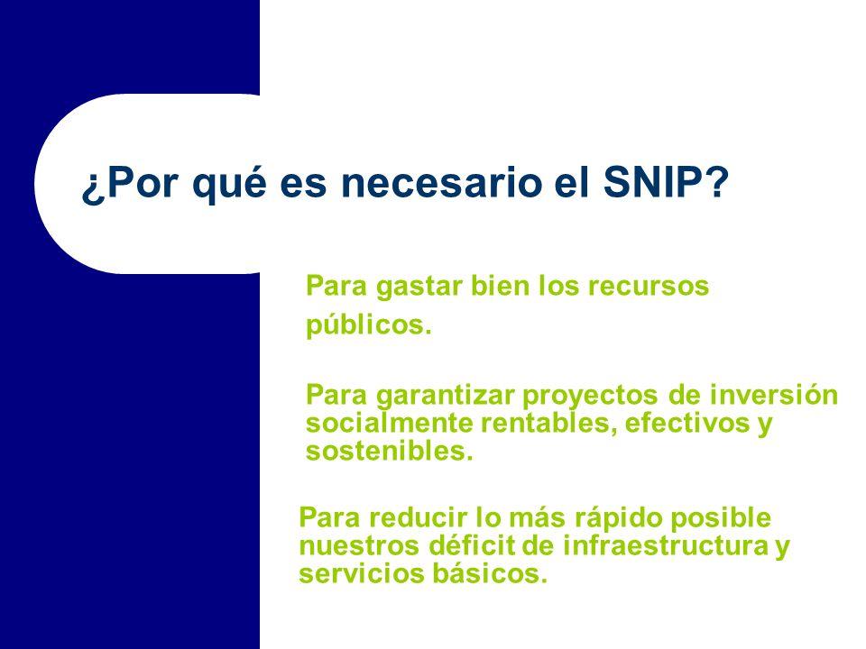 ¿Por qué es necesario el SNIP