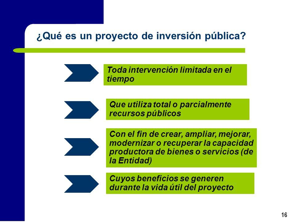 ¿Qué es un proyecto de inversión pública