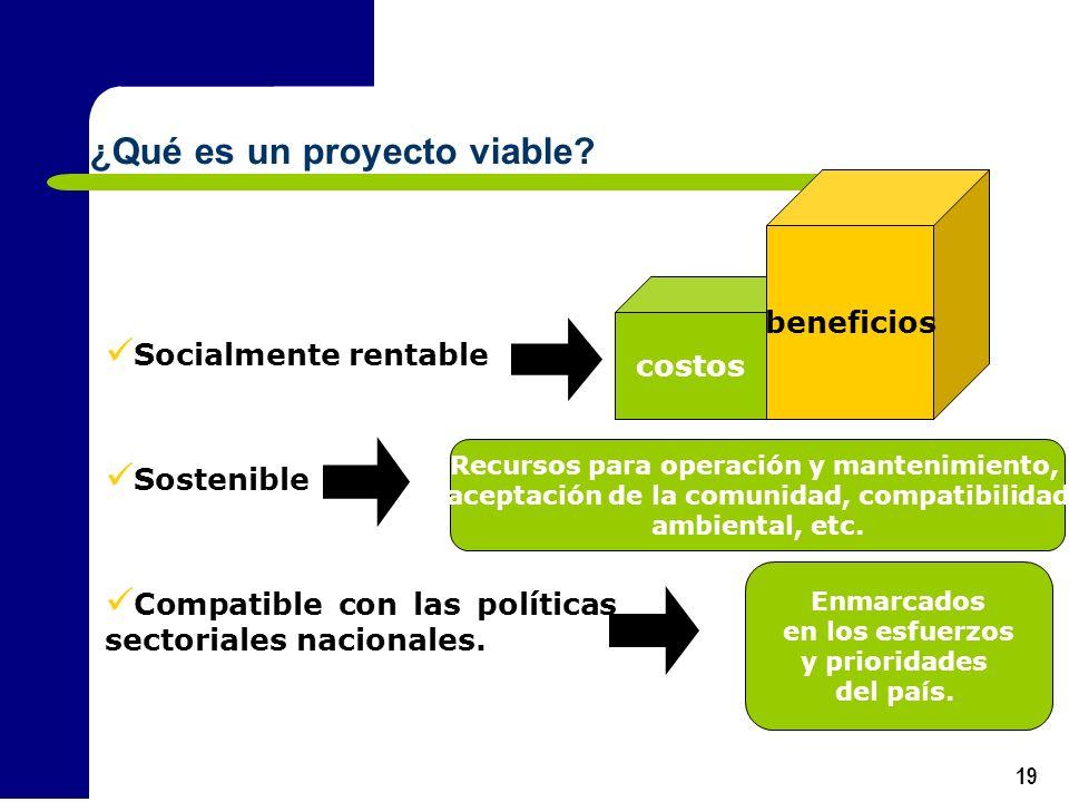 ¿Qué es un proyecto viable