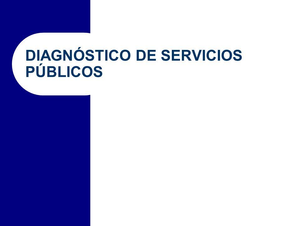 DIAGNÓSTICO DE SERVICIOS PÚBLICOS