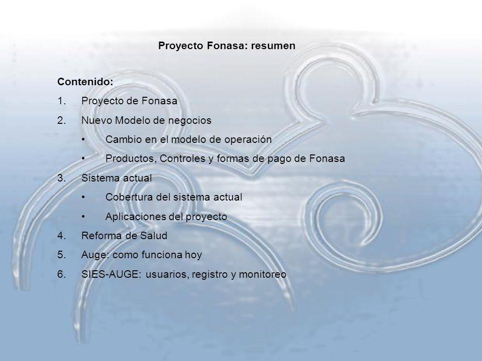 Proyecto Fonasa: resumen