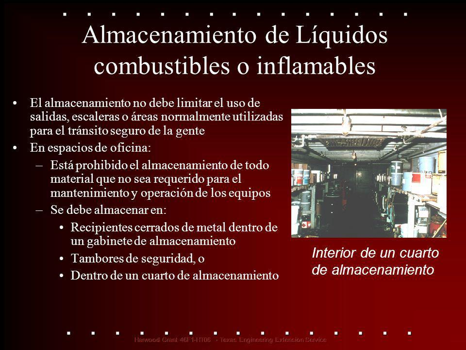 Almacenamiento de Líquidos combustibles o inflamables